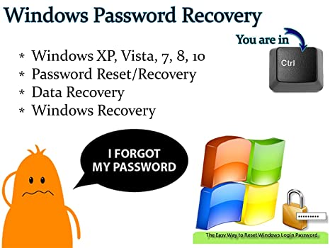 Windows Password Reset Data and System Recovery Tool Bootable Boot USB  Flash Thumb Drive for PCs - Forgot your password? This is for you!