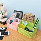 TIED RIBBONS Plastic Multipurpose Desk Organizer for Cosmetic, Pen, Mobile and Remote Stand, Standard(Multicolour)