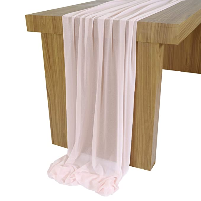 Buy 10 Feet Blush Sheer Table Runner Overlay Wedding Table Cloth 29x120 Inches Rustic Wedding Decorations French Chiffon Table Runner Online At Low Prices In India Amazon In