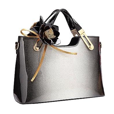 461cce7119edfa Amazon | KAXIDY バッグおしゃれ レディース ビジネスバッグトートバッグ バッグトートバッグ 通勤バッグ レディースブランド (グレー)  | ハンドバッグ
