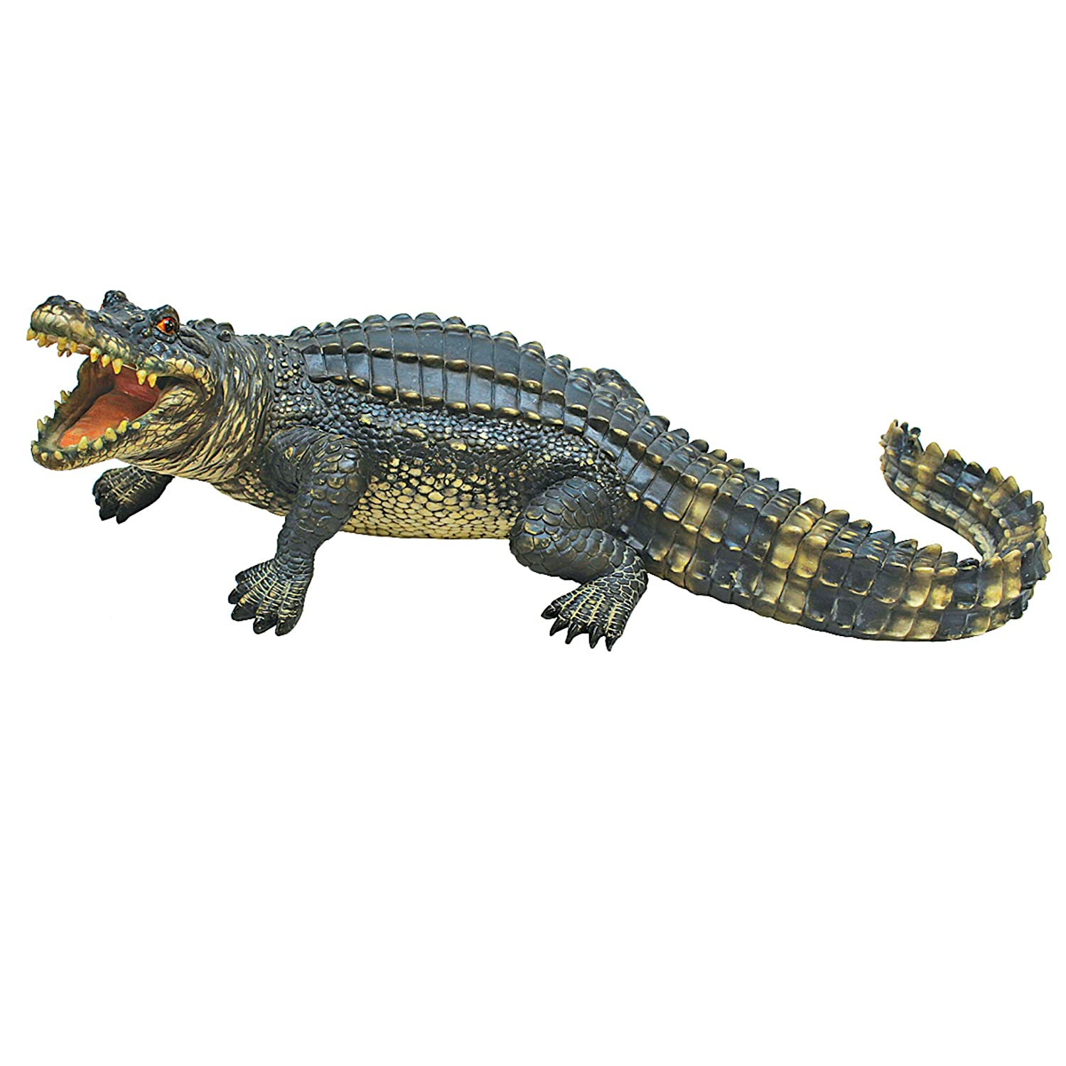 Design Toscano The Agitated Alligator Swamp Gator Statue, Multicolored