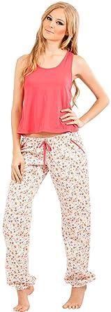 c7bc054455b1 Adriana Arango Women s Pyjama Set Trendy Tank Crop Top Pants  7535 ...
