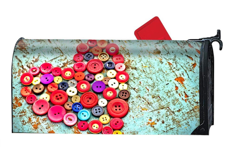 MALBX Artistic Heart Magnetic Mailbox Cover Christmas Snowman Standard