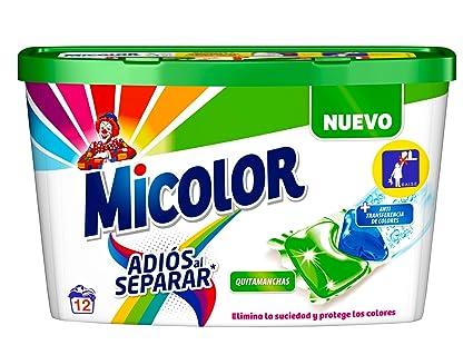 Micolor Detergente en Cápsulas Adiós al Separar - 12 Lavados ...