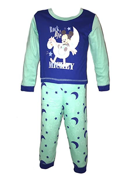 Disney niñas niños niños niños Minnie Mickey Mouse pijama ropa de dormir de tamaño para bebé