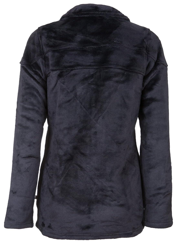 Teddy-Fleece Hoher Kragen Strickjacke Warme Sweat-Jacke LifeLine Fleece-Jacke Modell Frosta Kuschelig Damen