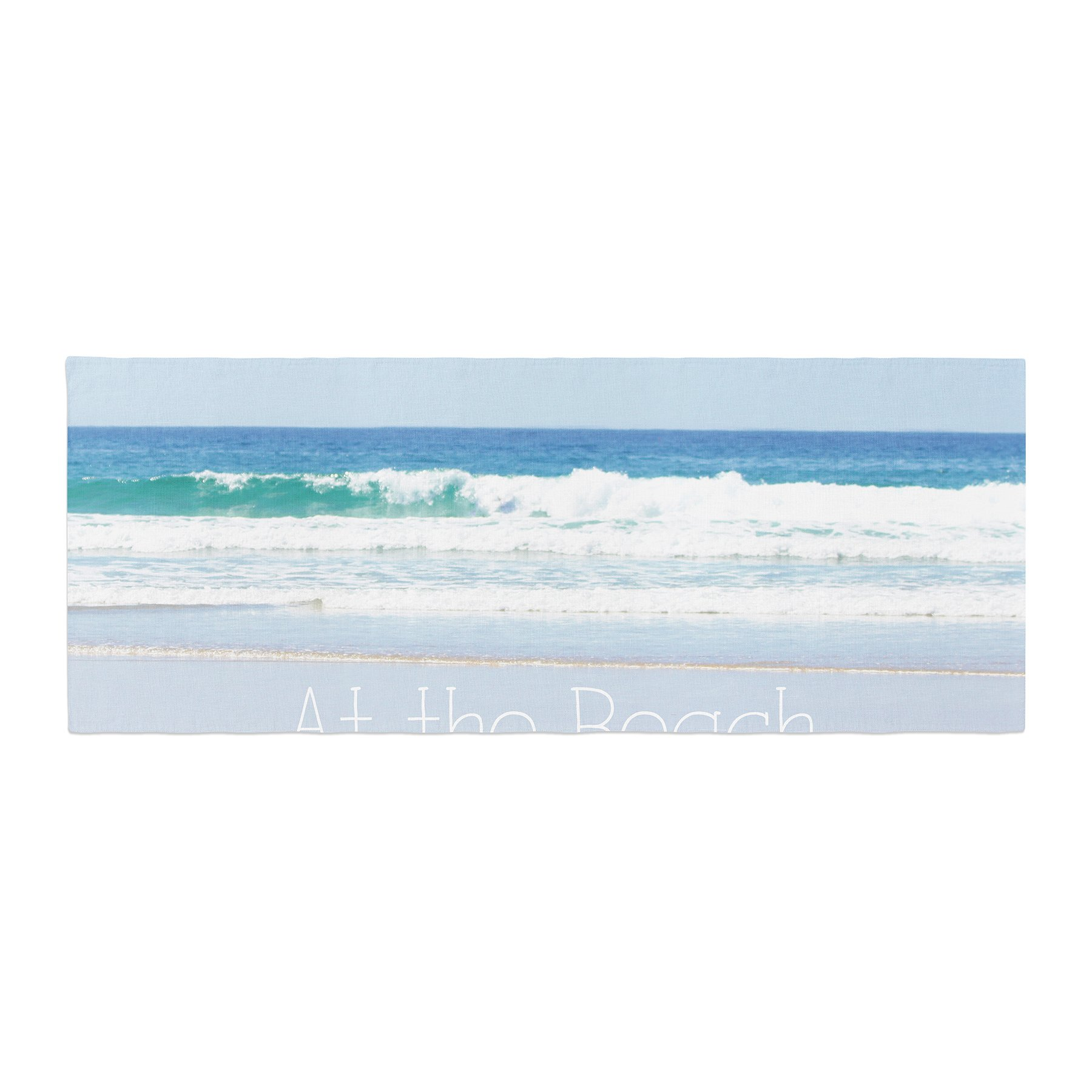 Kess InHouse Sylvia Coomes Life Is Better At The Beach Tan Blue Bed Runner, 34'' x 86''