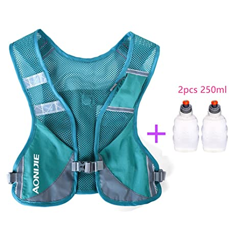 AONIJIE Marathon Running Vest Pack Hydration Backpack Outdoor Sport Bag Triathlon Race Hiking Fitness With 2