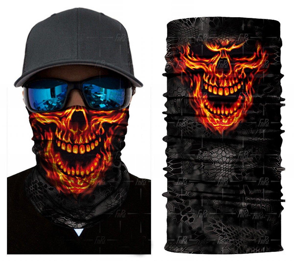 ARUNDEL SERVICES EU N24 Fuoco Cranio Maschera antipolvere protettiva tubolare Bandana Motociclo Sciarpa in poliestere Viso Scaldacollo per snowboard Paintball Sciare Motociclo Bicicletta