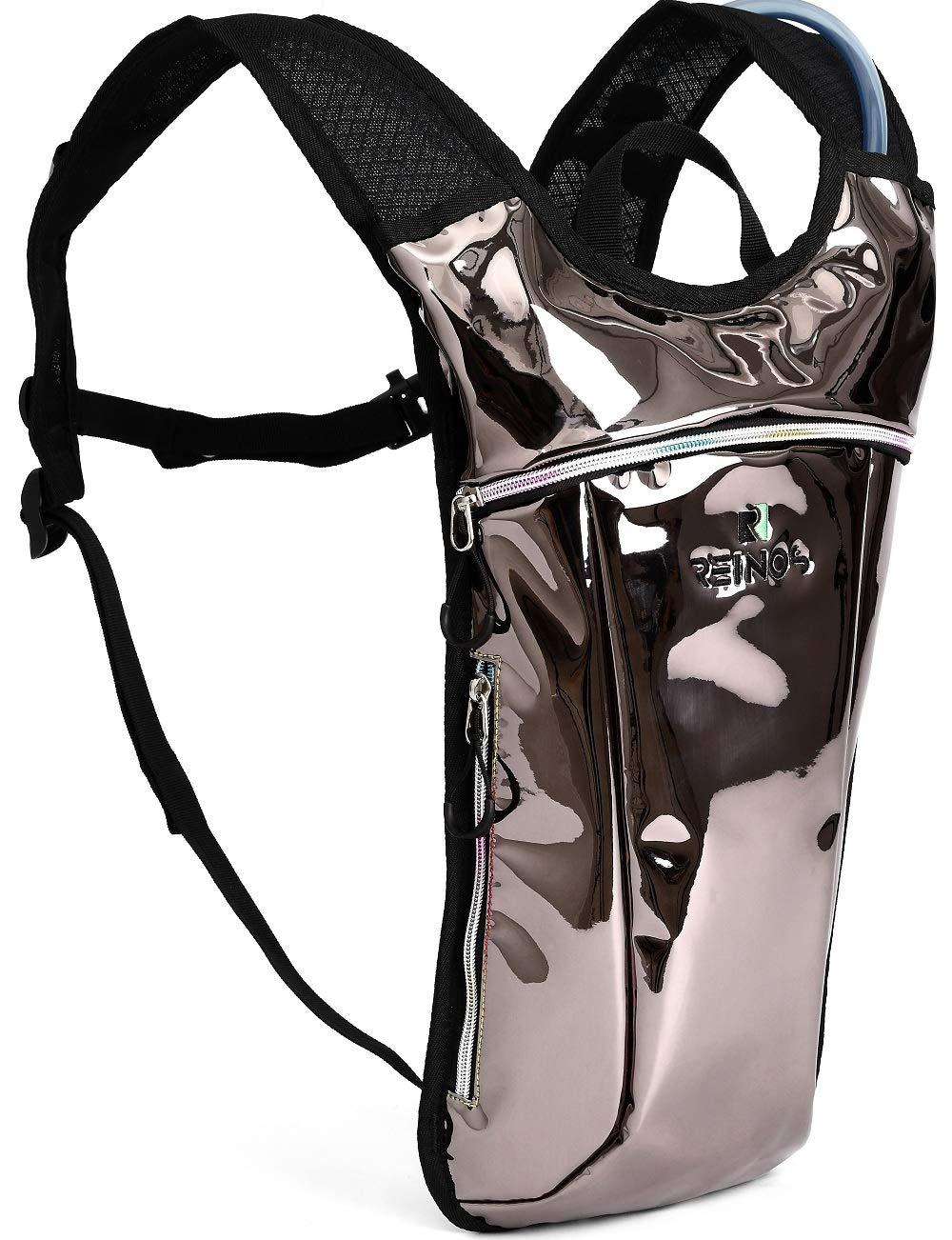 Hydration Backpack – Light Water Pack – 2L Water Bladder Included for Running, Hiking, Biking, Festivals, Raves