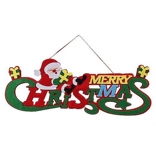 Kesote Cartel Colgante de Merry Christmas por Puerta Navida ...