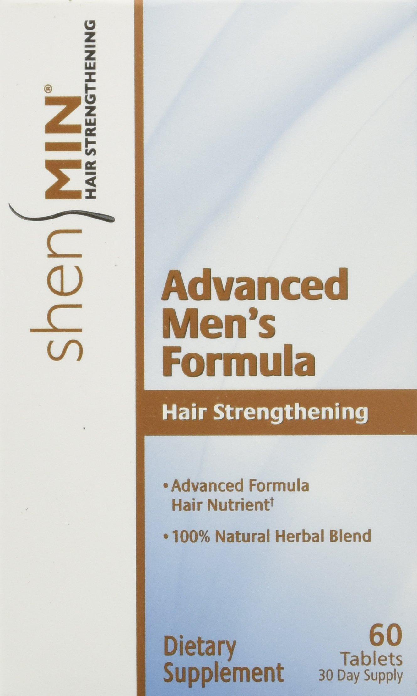 Shen Min Hair Strengthening Advanced Men's Formula Tablets, 60 Count