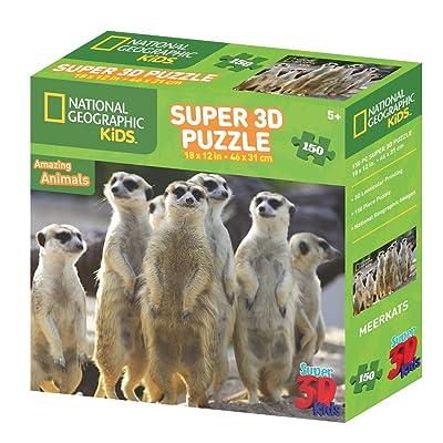 National Geographic NG10802 - Puzle Kids Super de suricatos 3D: National Geographic: Juguetes y juegos