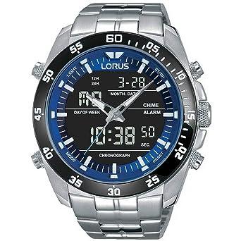 Lorus Reloj Digital para Hombre de Cuarzo con Correa en Acero Inoxidable RW629AX9: Amazon.es: Relojes