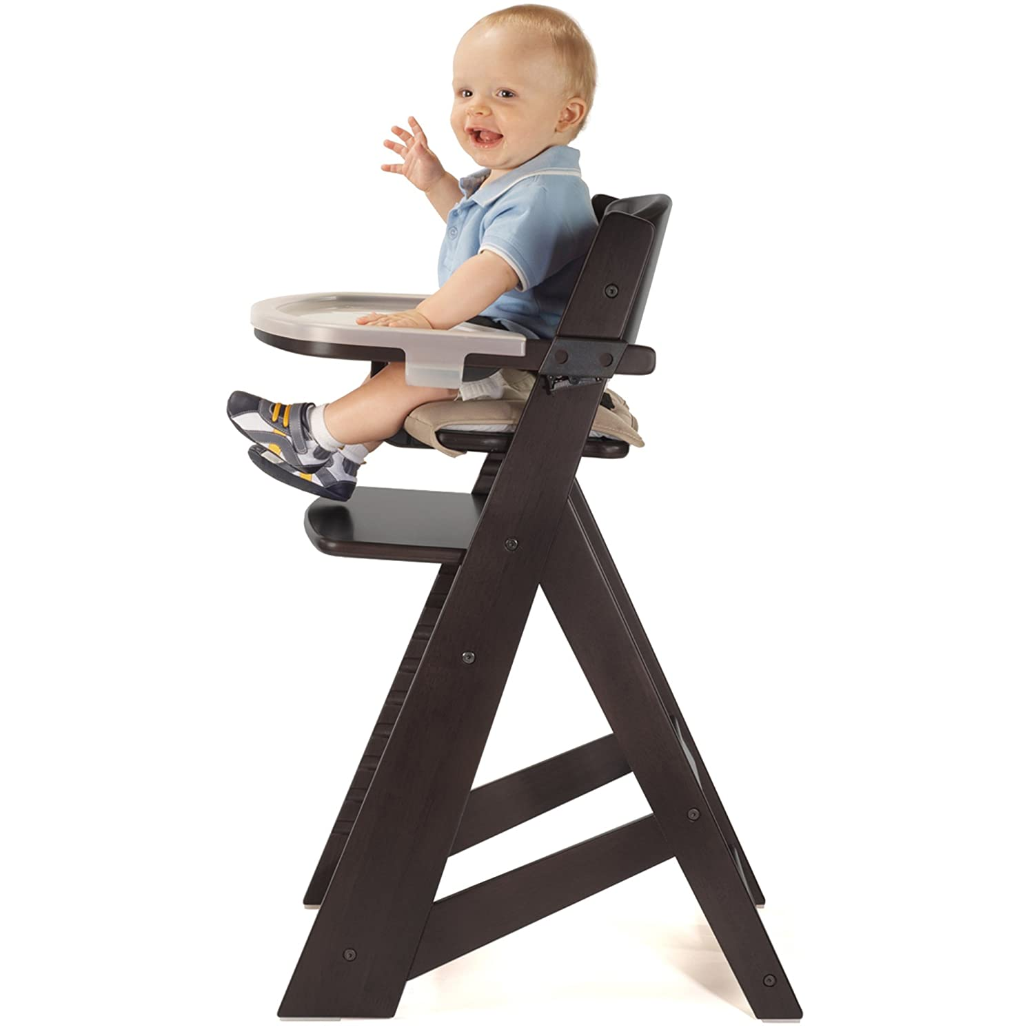 Espresso Keekaroo Kids Height Right High Chair with Tray