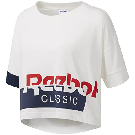 c8cc1ea5757ca2 Image Unavailable. Image not available for. Color  Reebok Active Chill Cropped  Tee