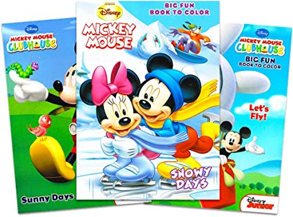 - Amazon.com: Mickey Mouse Clubhouse Coloring And Activity Book Set (3 Books  ~ 96 Pgs Each): Toys & Games