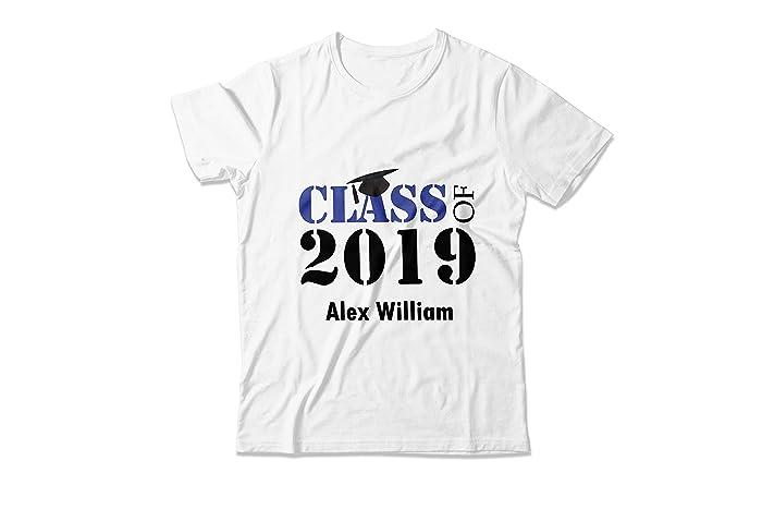 806de8e8d Amazon.com: 2019 Graduation Tee shirt, Cool Shirts Printed Graduation Shirt,  Graduation Ideas, Graduation Custom Shirt, Printed Tee Shirt,  Congratulations ...