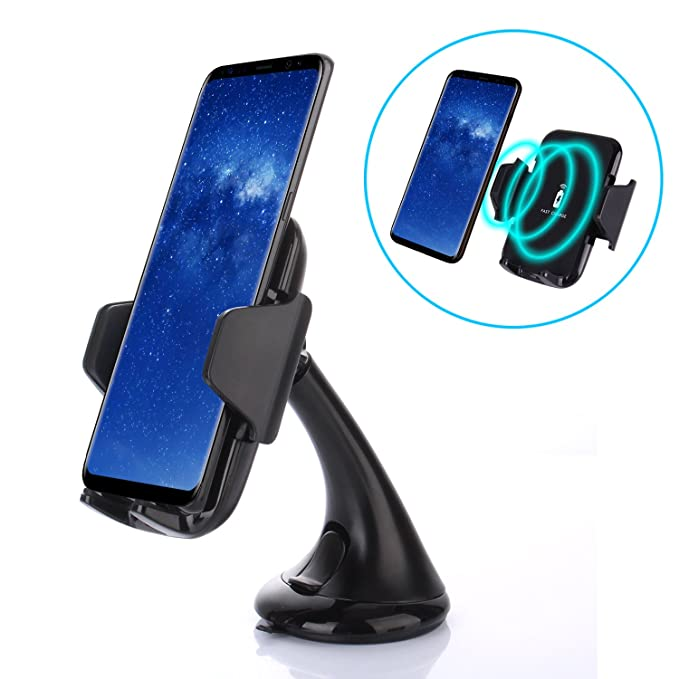 Amazon.com: Qi Wireless Charger Car Mount, Fast Charge Air ...