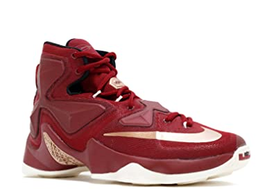 half off e5d4d 84078 Nike Men s Lebron XIII Red Basketball Shoe - 9.5 ...