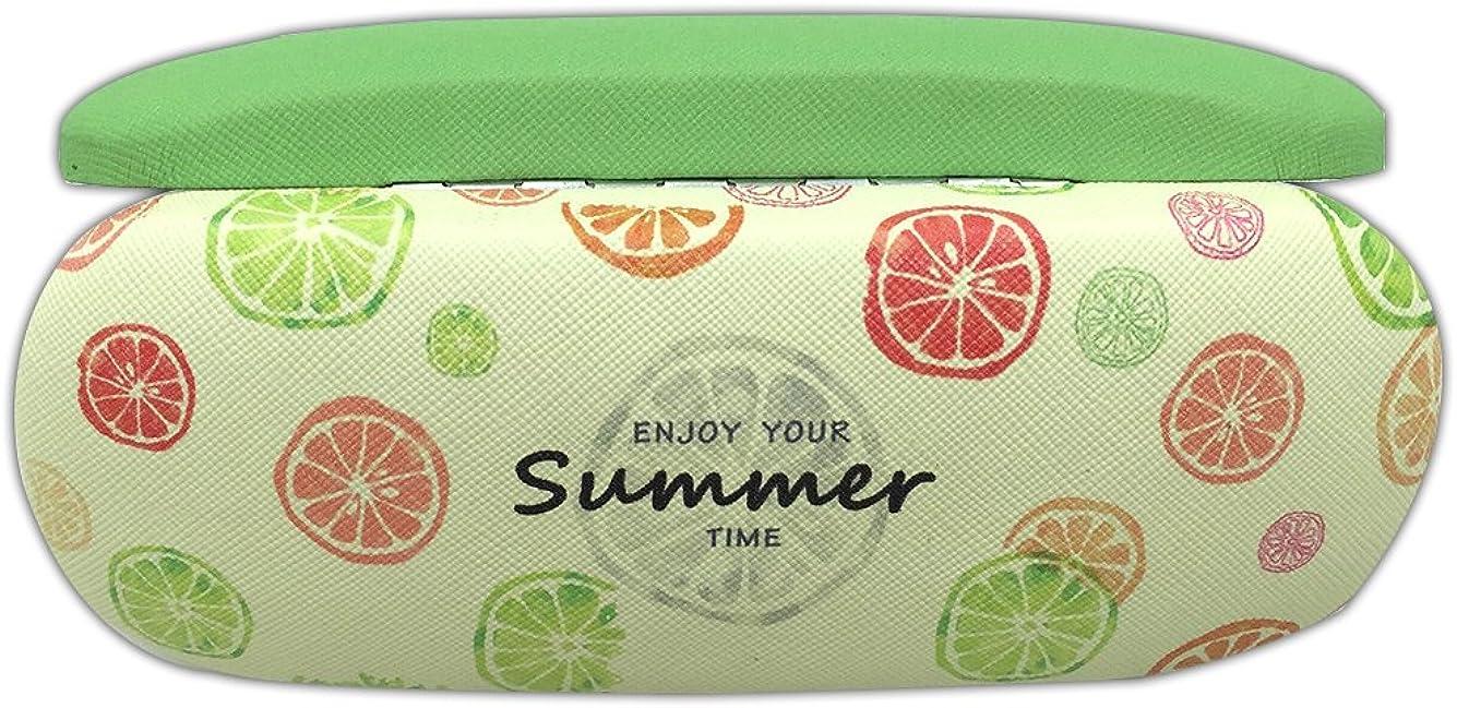 E-Bestar Ragazze Cuoio bella modello della frutta degli occhiali da sole Caso Storage Box