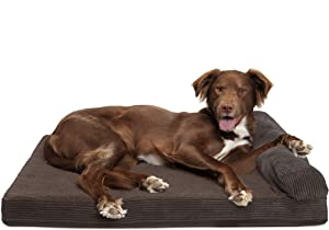 Furhaven Pet Dog Bed | Therapeutic Traditional Sofa-Style Deluxe & Goliath Chaise Living Room Couch Pet Bed w/ Removable Cover for Dogs & Cats - Available in Multiple Colors & Styles