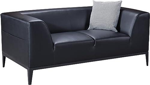 Best living room sofa: American Eagle Furniture Olivia Mid Century Modern Living Room Faux Leather Upholstered Loveseat