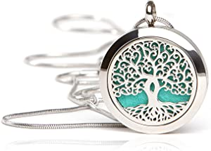 Essential Oil Diffuser Necklace - Magnetic Locket - Best for Aromatherapy - Perfume