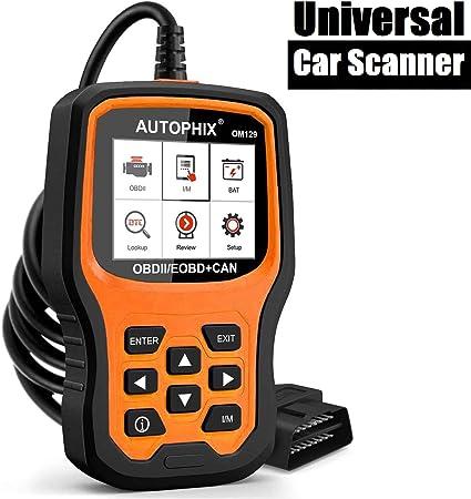 Autophix Obd2 Diagnosegerät Auto Code Scanner Mit Batterietest Fahrzeug Fehlercodeleser Unterstützt Obdii Eobd Can Protokolle Auto