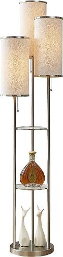 Artiva USA LED21048SNT Eleanor 66″ H LED Tri-Light Shelf Floor Lamp