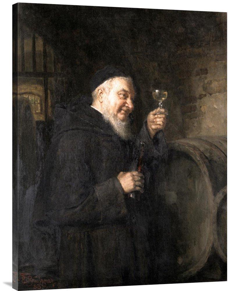Global Gallery GCS-277822-36-142 ''Eduard Von Grutzner Good Health'' Gallery Wrap Giclee on Canvas Wall Art Print