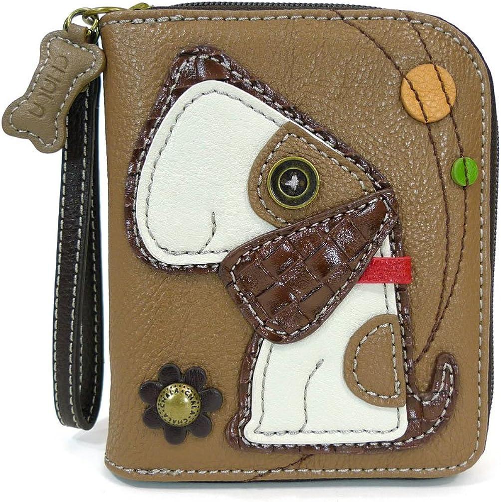 CHALA Handbags- Zip Around Wallet, Wristlet, 8 Credit Card Slots Sturdy Coin Purse for women