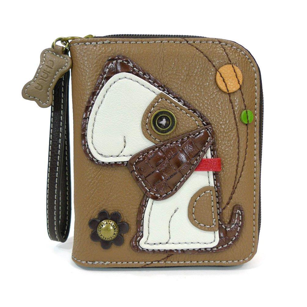 CHALA Handbags- Zip Around Wallet Wristlet 8 Credit Card Slots Sturdy Coin Purse for women