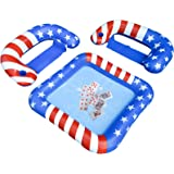 BOWINR Pool Game Floating Table, Floaties Chairs and Water-Proof Playing Cards Deck Set, Inflatable Floats Party Station Acce