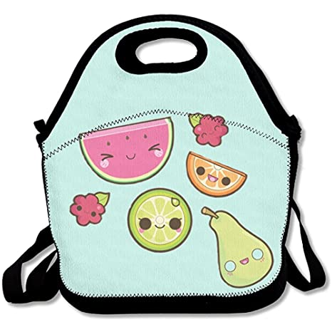 Amazon.com: Happy frutas neopreno bolsa de almuerzo bolso ...