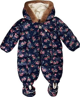 375ac920c Kanz Baby Girls Schneeanzug M. Kapuze Hooded Long Sleeve Snowsuit - blue -  80 cm: Amazon.co.uk: Clothing