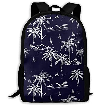26d3883eace2 Amazon.com : TAOHJS106 Hand Drawn Palm Trees Pattern Waterproof ...