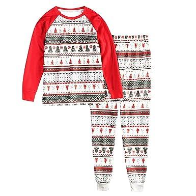 b27820112fe1c Ensemble Pyjama Noel Famille Ours Père Noël Bébé Enfant Femme Homme 2  Pièces Mère Fille Garcon Homewear Chemisier Pantalon Sleepwear Renne  Vêtement de Nuit ...