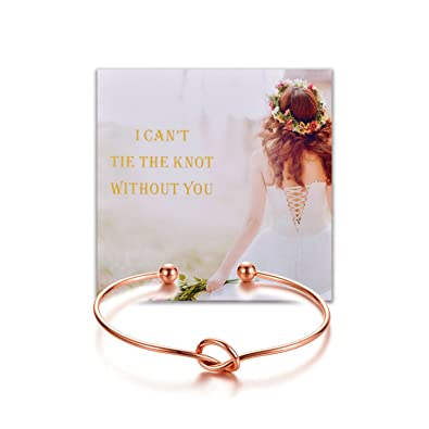 Buy Bridesmaid Gifts Love Knot Bracelets with Warmth Card Gift Rose Gold Tone for Friend Sister Family -Set of 2 Online at Low Prices in India | Amazon ...  sc 1 st  Amazon.in & Buy Bridesmaid Gifts Love Knot Bracelets with Warmth Card Gift Rose ...