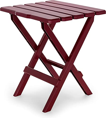 Camco Large Adirondack Portable Outdoor Folding Side Table