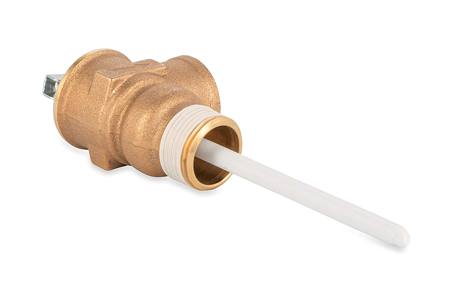 4 Inch Temperature and Pressure Relief Valve with Epoxy-Coated Probe Silver Pewter