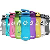 Grsta Bouteille d'eau de Sport 20oz/1L-sans bpa & Anti Fuite Plastique Gourde