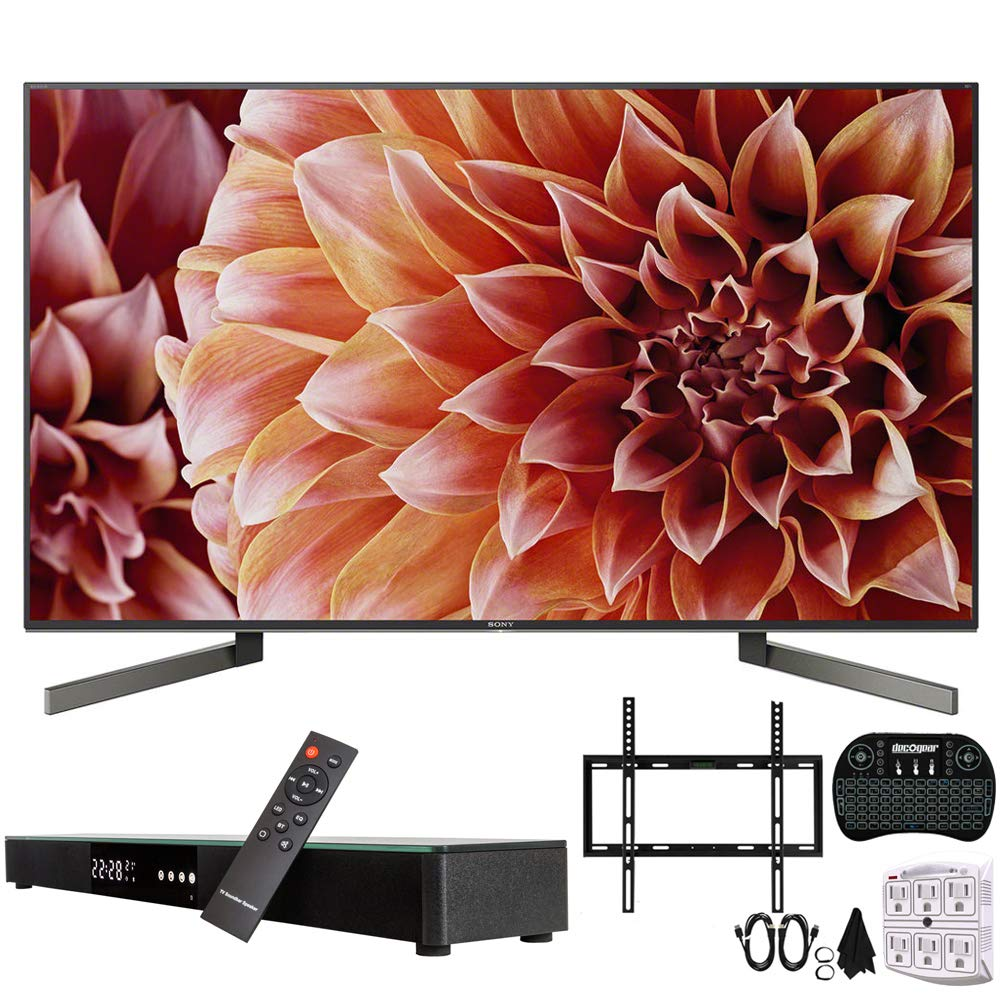 "Sony XBR65X900F 65-Inch 4K Ultra HD Smart LED TV w/Soundbar Bundle Includes, Deco Gear Home Theater Surround Sound 31"" Soundbar, Flat Wall Mount Kit for 45-90 inch TVs and More"