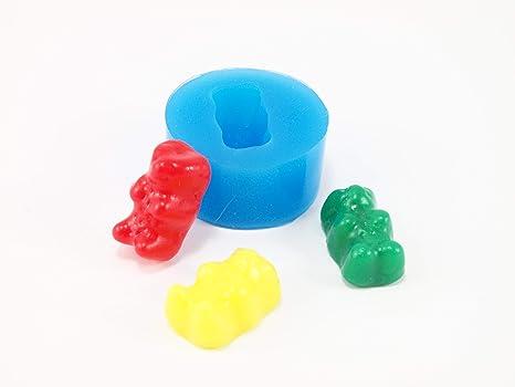 Molde de silicona con forma de oso para fimo, plastilina, resina, porcelana fría