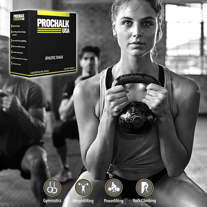 prochalk gimnasio tiza - 1lb (8 - 2OZ bloques): Amazon.es: Deportes y aire libre