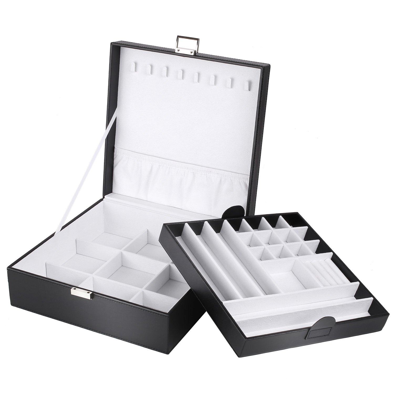 MVPOWER Boite a Bijoux Coffret à Bijoux Bijoux Rétro pour Rangement  Présentoirs Bueaty Case Compartiment Amovible 6f7c7e22bfd