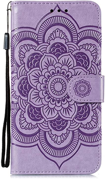 Escape Plus//Arena 2 Mandala Purple LD Slim Premium PU Flip Cover Mandala Embossed Full Body Protection with Card Magnetic Closure Case for LG K30 2019 COTDINFORCA LG K30 2019 Wallet Case