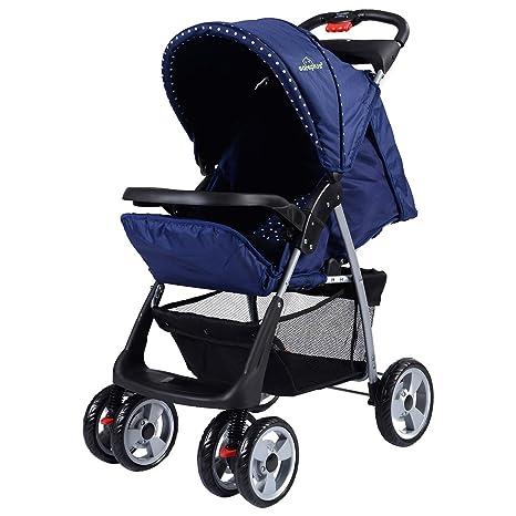 Plegable bebé cochecito Silla de paseo giratoria ruedas niño ...