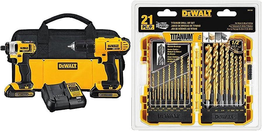 DEWALT 20V MAX Li-Ion Drill Driver and Impact Driver Kit DCK240C2 New