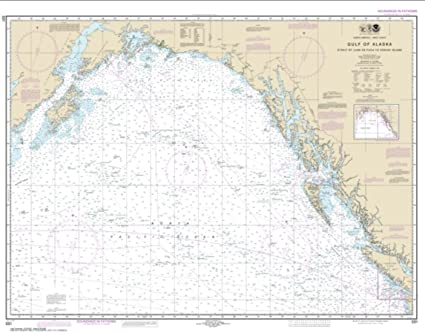 Kodiak Island Alaska Map.Amazon Com Noaa Chart 531 Gulf Of Alaska Strait Of Juan De Fuca To